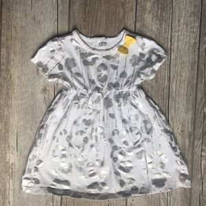 Koala Kids - Silver Dress With Bow 6-9M